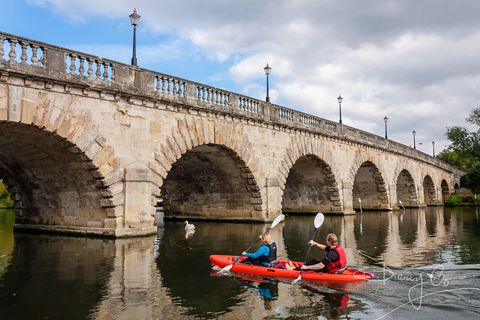 Canoeists by Maidenhead Bridge